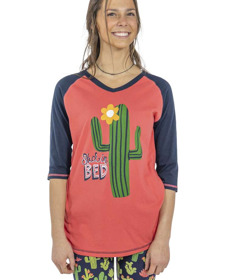 Stuck in Bed Women's Cactus Tall Tee
