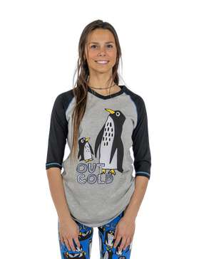 Out Cold Women's Penguin Tall Tee