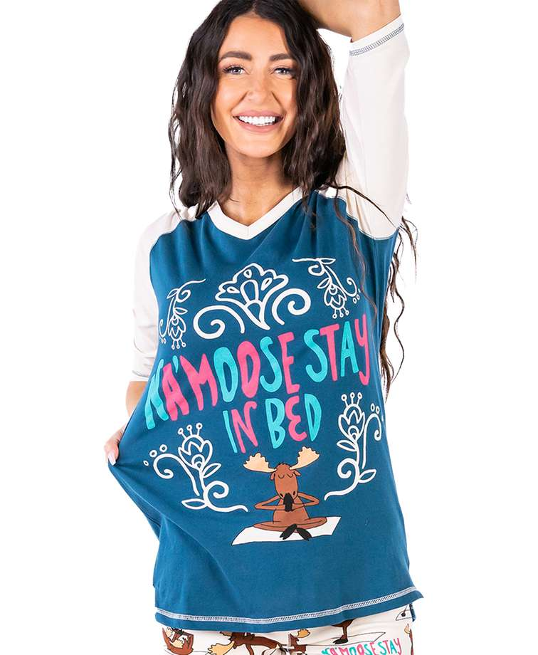 Na'moose Stay In Bed Women's Moose Tall Tee