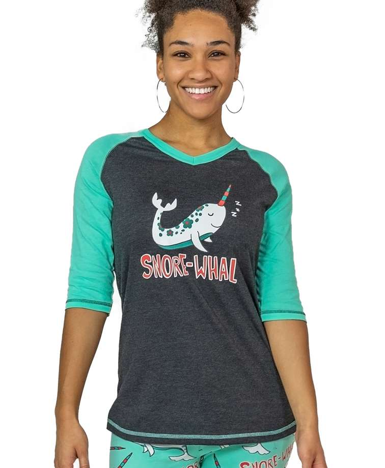 SnoreWhal Women's Narwhal Tall Tee