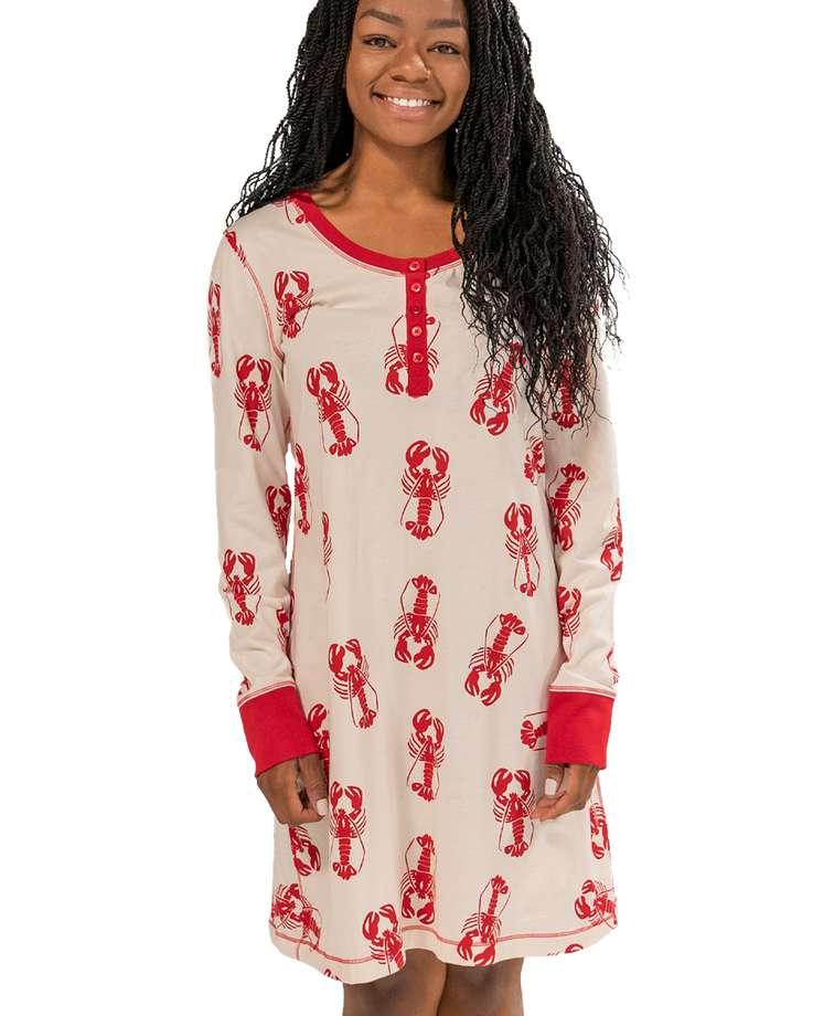 Lobster Scoop Neck Nightshirt