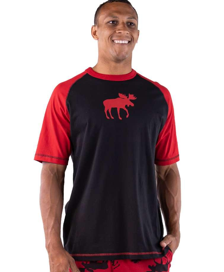Red Classic Moose Men's PJ Tee