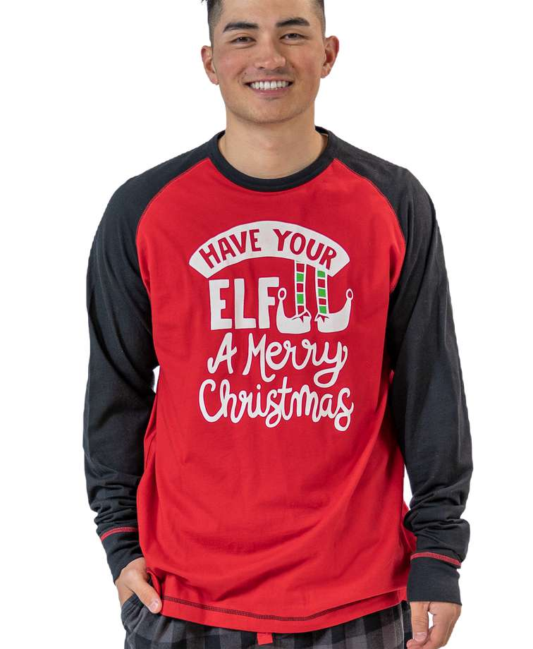 Have Your Elf A Merry Christmas Long Sleeve Men's PJ Tee