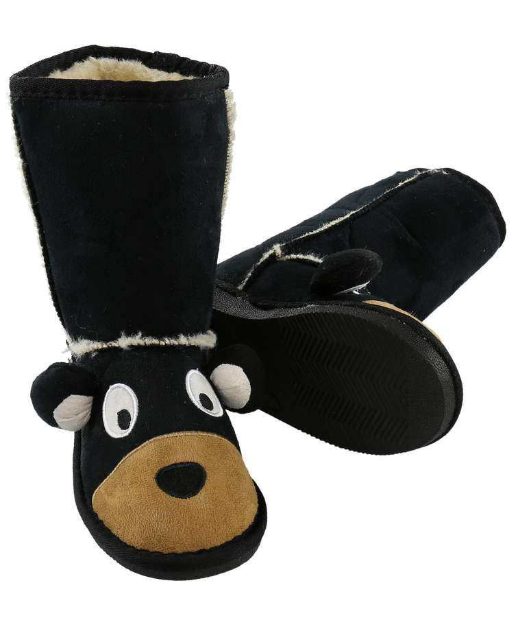 Kid's Bear Slipper Boots