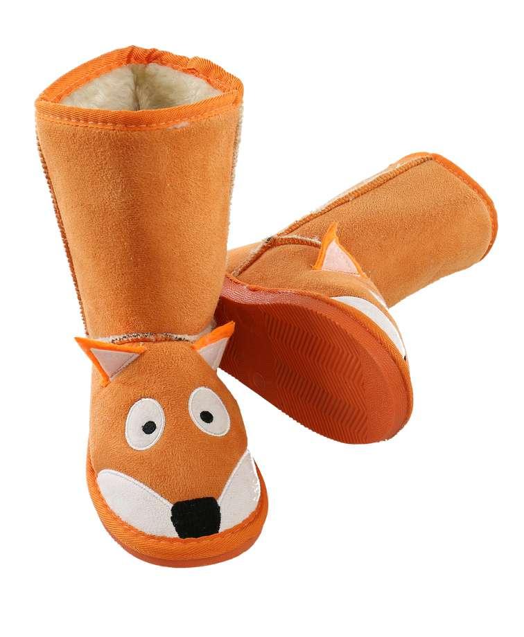 Kid's Fox Slipper Boots