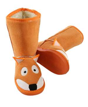 Kid's Fox Slipper Boots