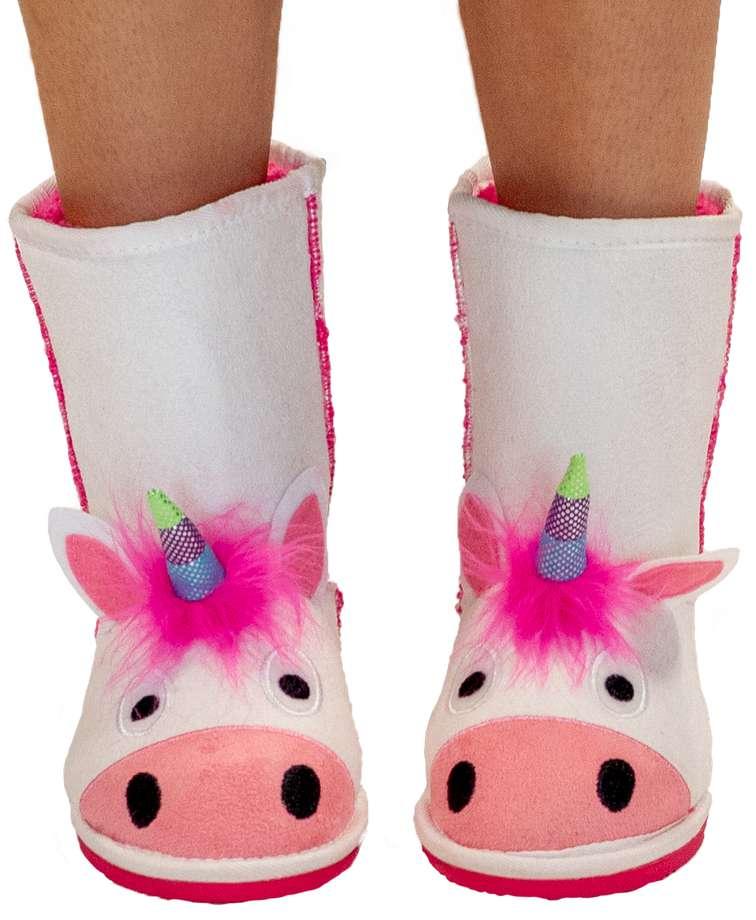 Kid's Unicorn Slipper Boots