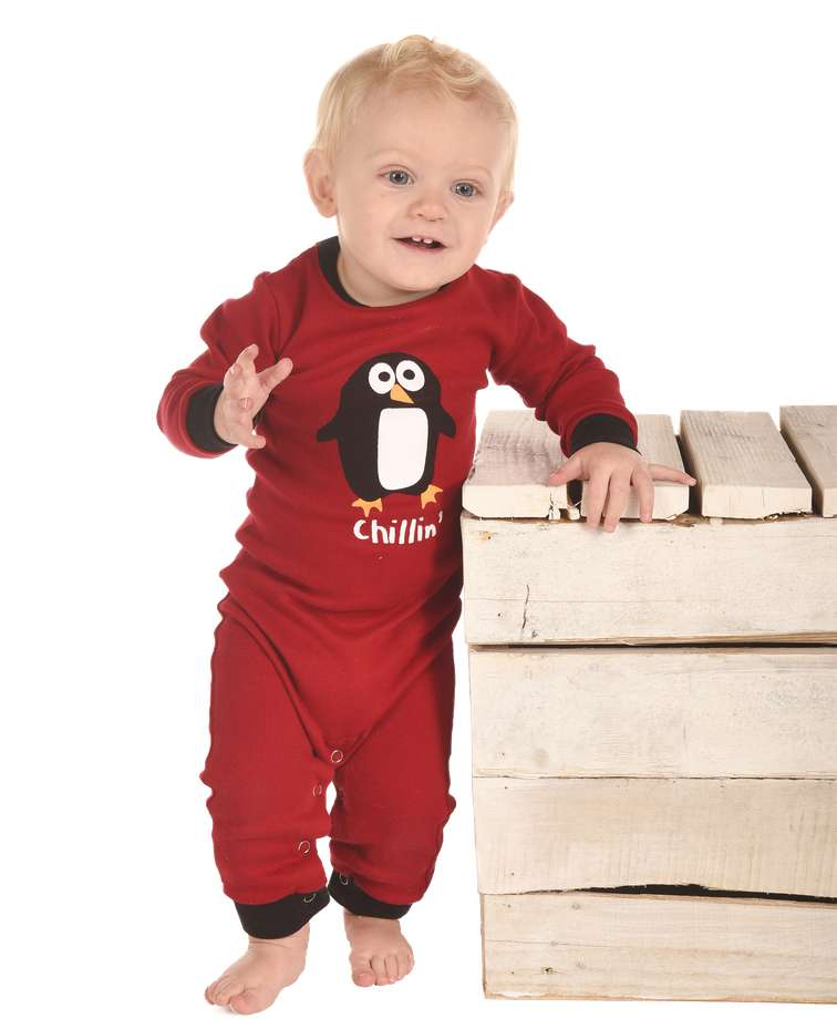 Chillin Penguin Infant Union Suit
