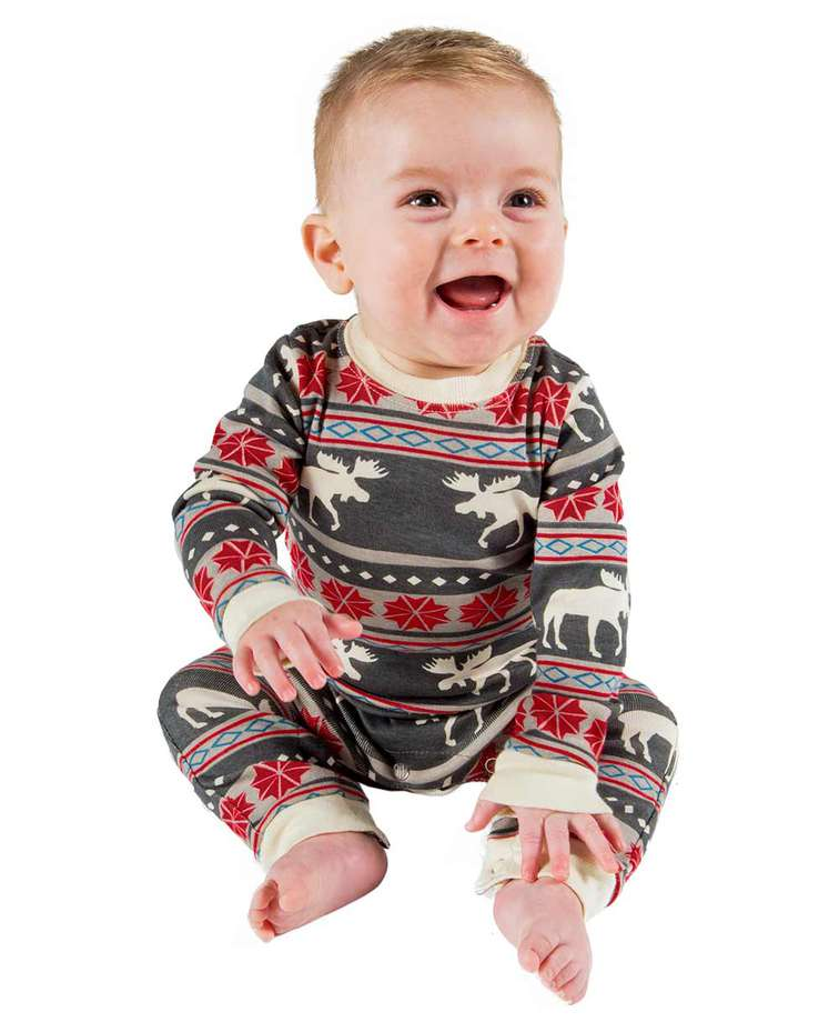 Moose Fair Isle Infant Union Suit