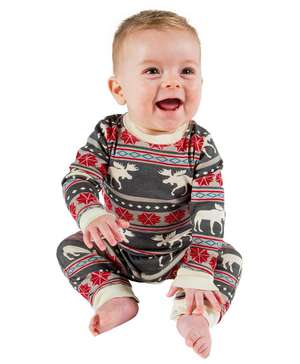 Moose Fair Isle Infant Union Suit