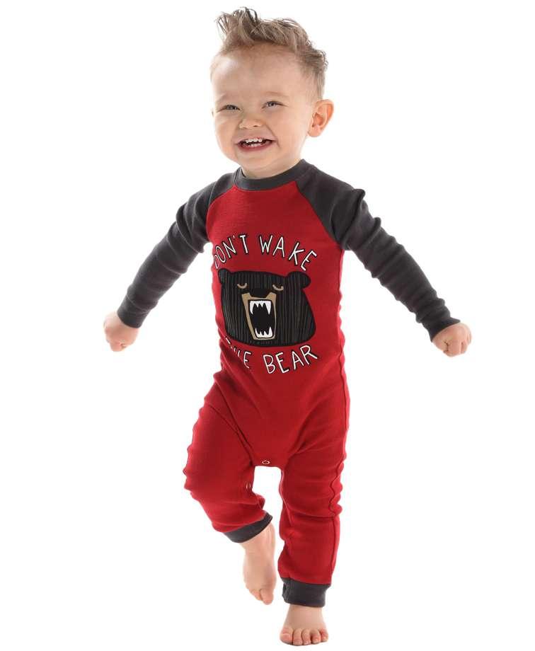 Don't Wake Bear   Infant Union Suit