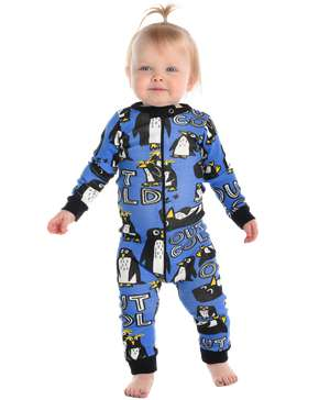 Out Cold Penguin Infant Union Suit