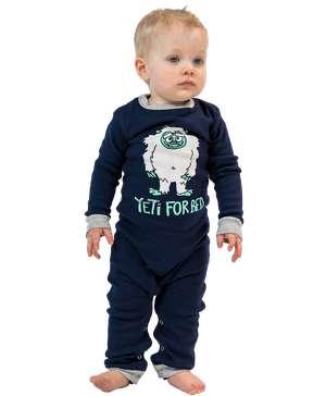 Yeti For Bed Infant Union Suit