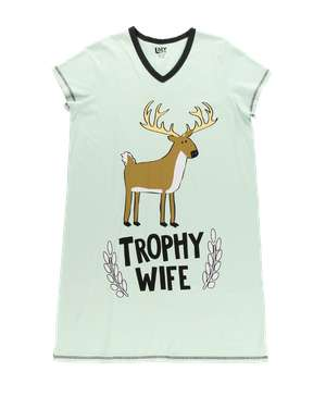 Trophy Wife V-Neck Nightshirt