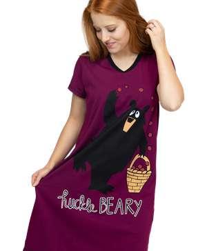 HuckleBeary Women's V-neck Nightshirt