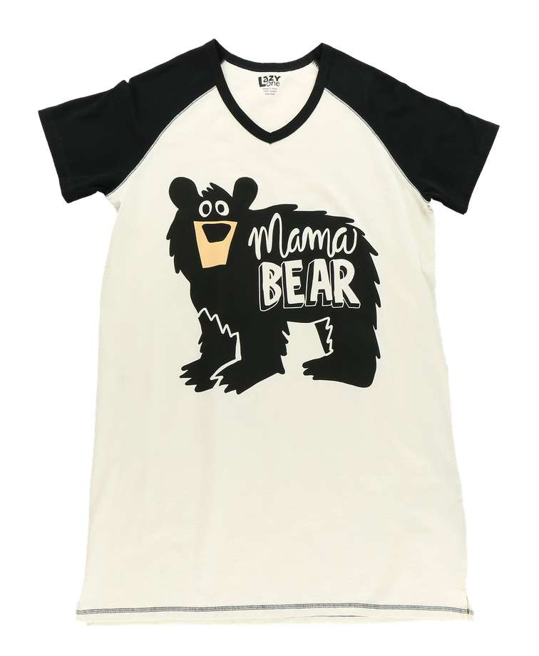 Mama Bear Women's V-Neck Nightshirt