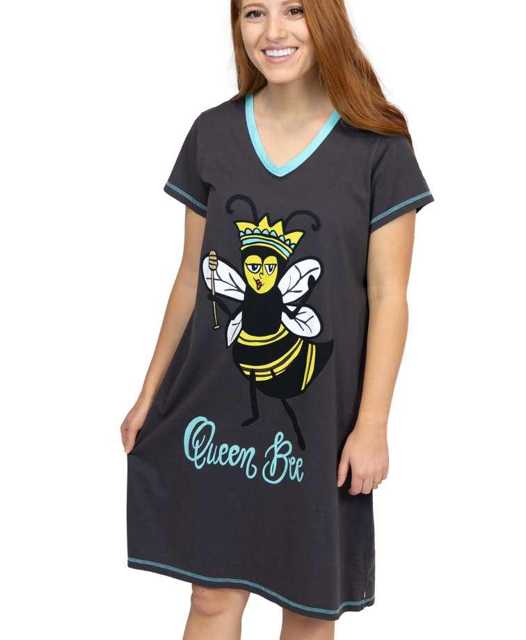 Queen Bee Women's V-neck Nightshirt
