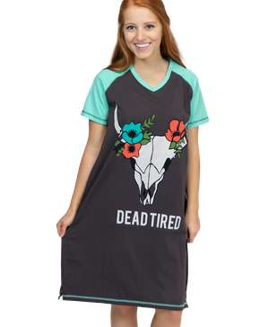 Dead Tired Women's South West V-Neck Nightshirt