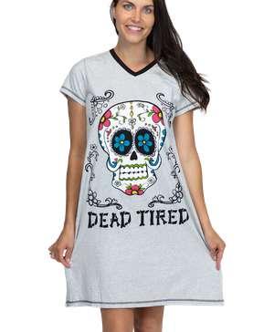Dead Tired Women's V-neck Nightshirt