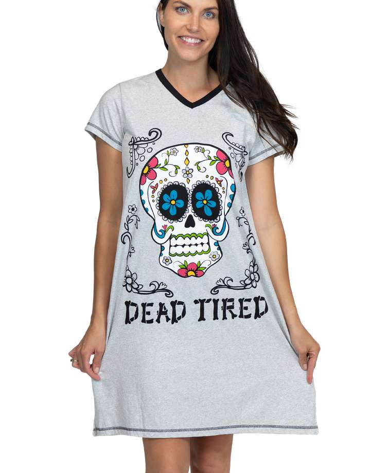 Dead Tired Women's V-neck Nightshirt