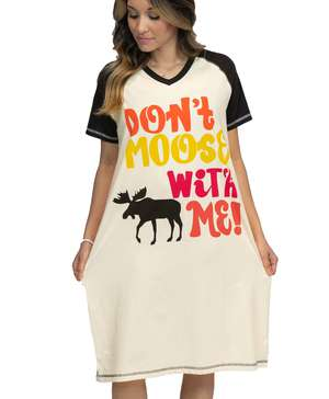 Don't Moose With Me Women's V-neck Nightshirt