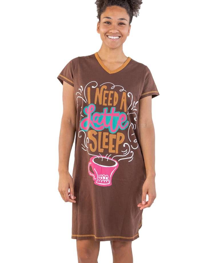 Latte Sleep Women's V-neck Nightshirt