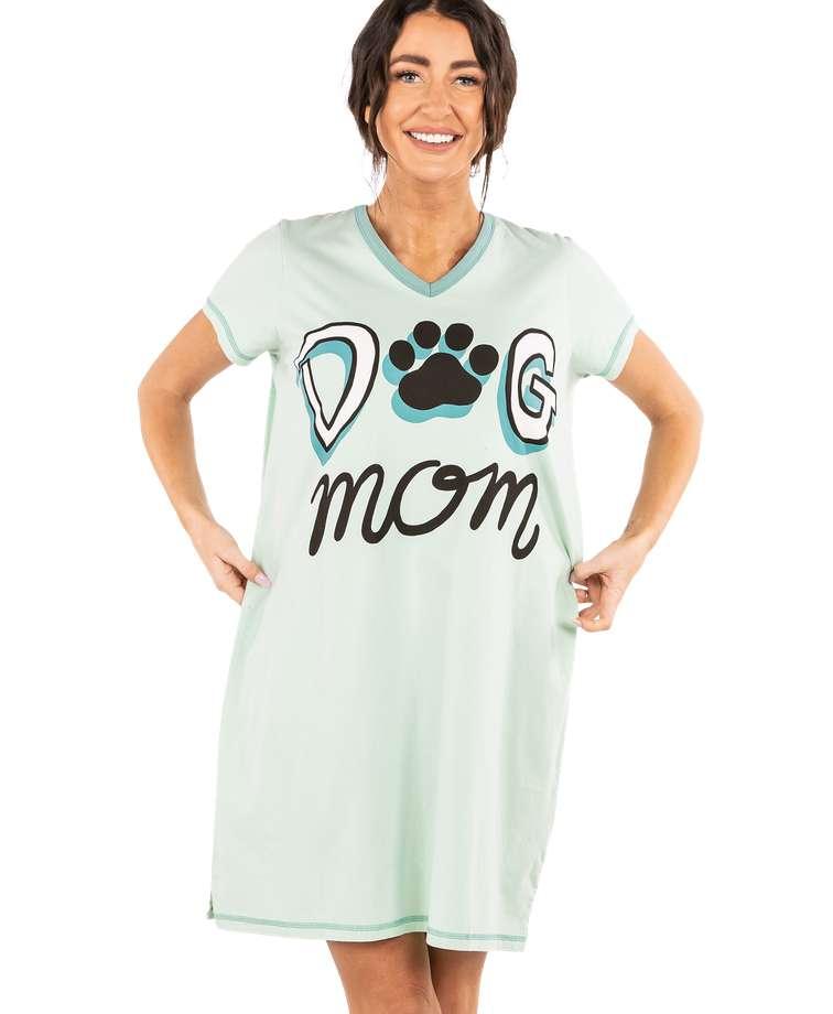 Dog Mom Women's V-Neck Nightshirt