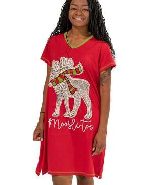 Moosletoe Women's V-neck Nightshirt