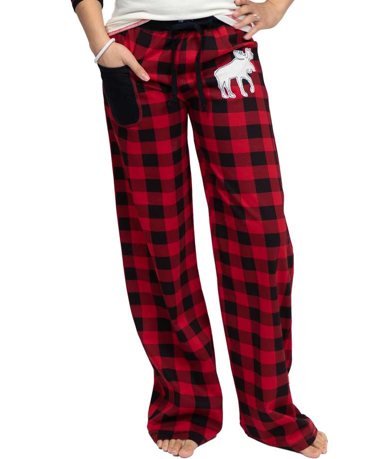 Moose Plaid Women's Fitted Pant