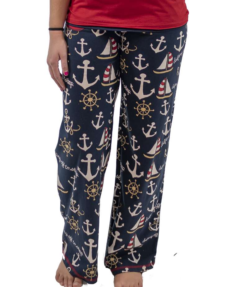 Drifting Off To Sleep Women's Nautical Fitted Pant