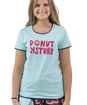 Donut Disturb Women's Fitted Tee