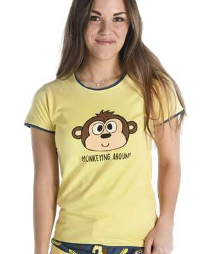 Monkeying Around Women's Fitted Tee