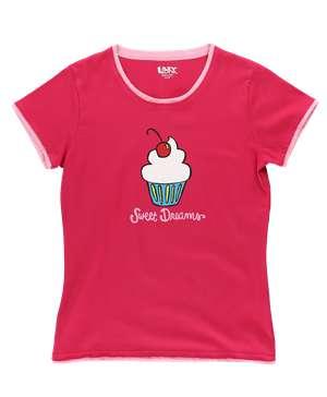 Sweet Dreams Fitted Cupcake Women's Tee