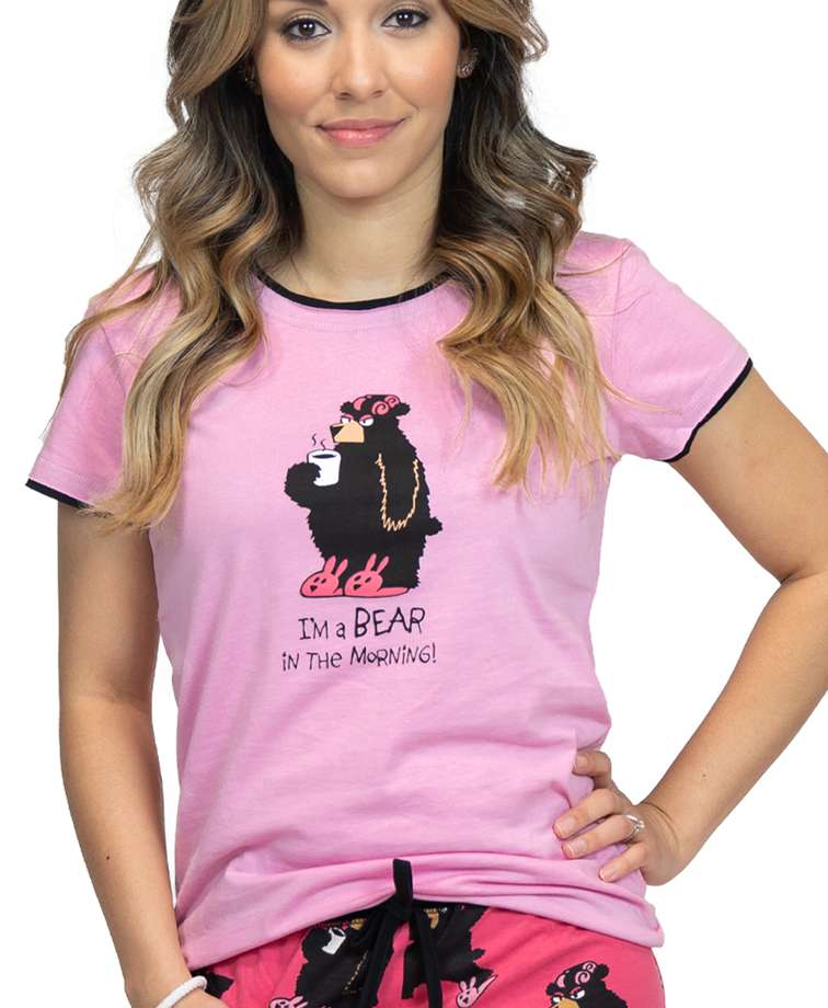 I'm a Bear in the Morning Women's Fitted Tee