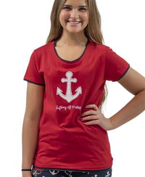 Drifting Off Women's Nautical Fitted Tee