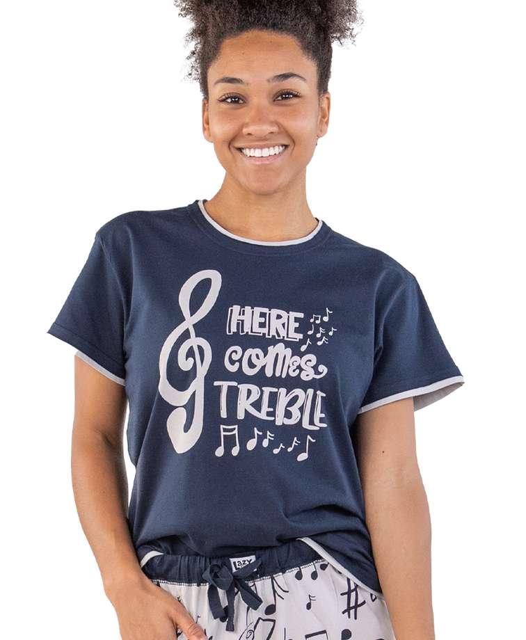 Here Comes Treble Women's Music Regular Fit PJ Tee