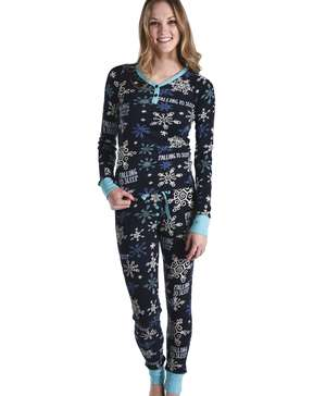 Falling to Sleep Women's Thermal Snowflake Set