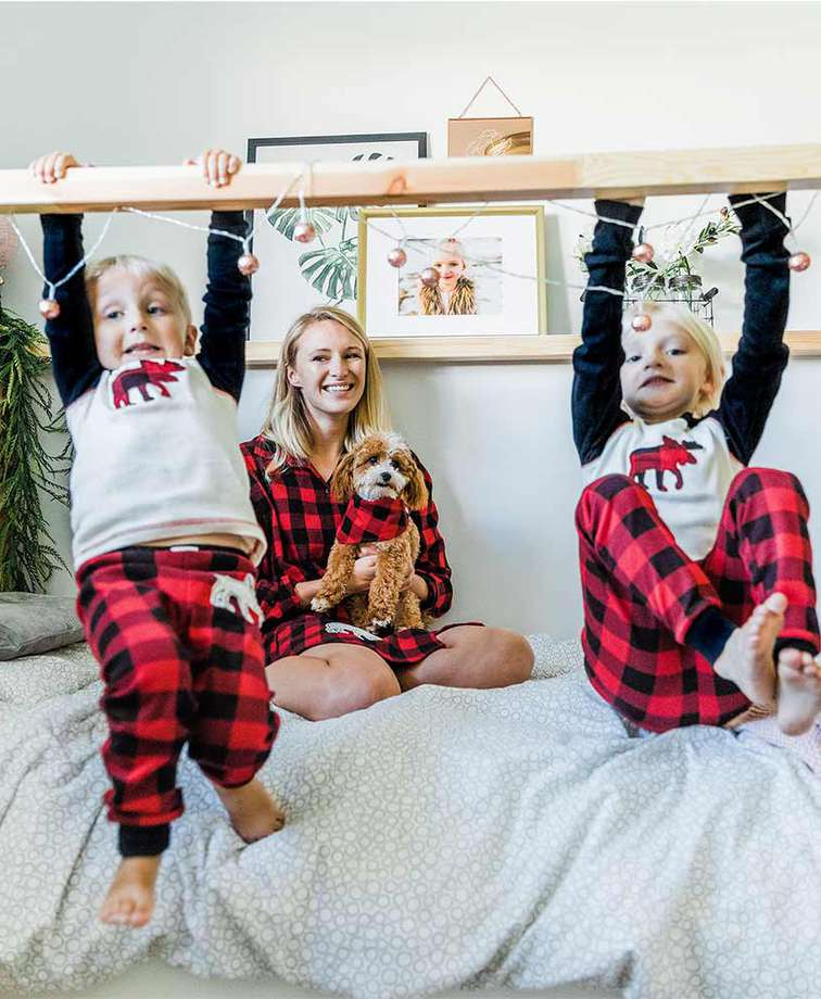Moose Plaid Pajamas