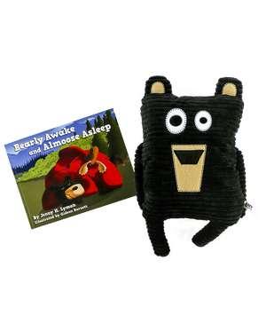 Bearly Awake Children's Book and Bear Critter Pet