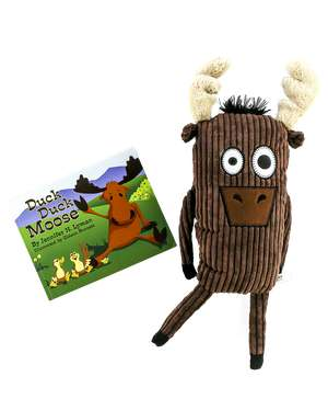 Duck Duck Moose Children's Book and Moose Critter Pet