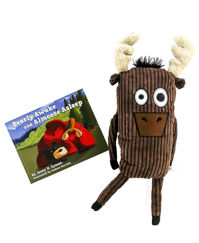 Bearly Awake Children's Book and Moose Critter Pet