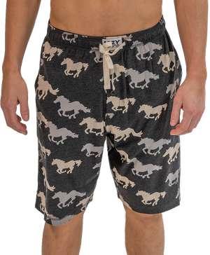 Stampede Men's Horse Pajama Shorts