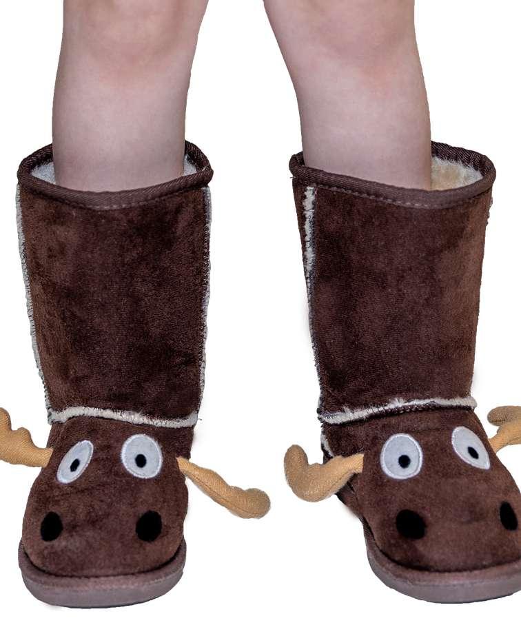 Kid's Moose Slipper Boots