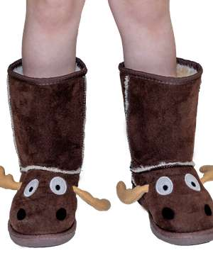 Kid's Moose Slipper Boots