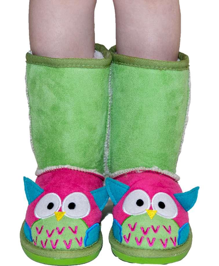 Kid's Owl Slipper Boots