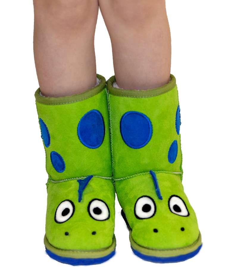 Kid's Dino Slipper Boots