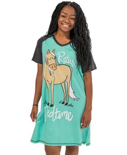 LazyOne Womens I/'m Pooped Horse Nightshirt V Neck