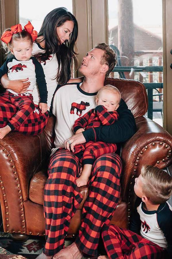 Moose Plaid Family Matching Pajamas