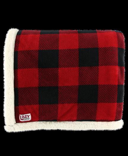 62cc49da5d Red Plaid Sherpa Throw Blanket image