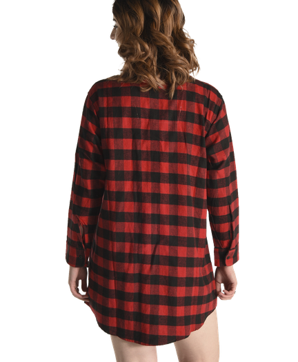Flannel Moose Plaid Night Shirt 580f430be